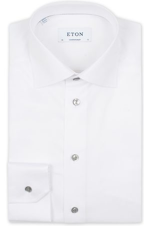 Eton Contemporary Fit Signature Twill Shirt White
