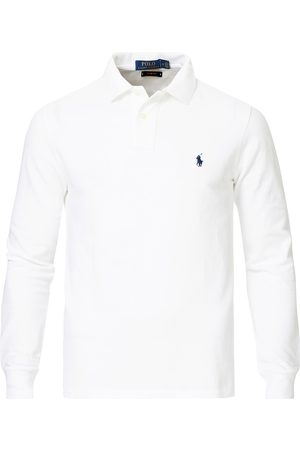 Polo Ralph Lauren Slim Fit Long Sleeve Polo White