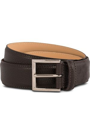 Crockett & Jones Belt 3,5 cm Dark Brown Grained Calf