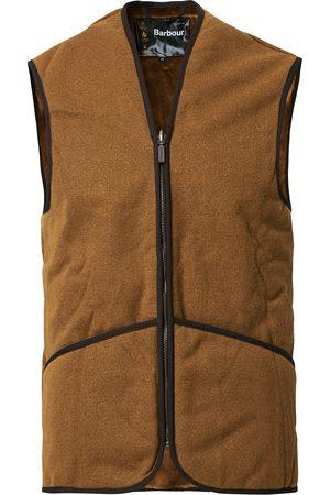 Barbour Warm Pile Waistcoat Zip-In Liner Brown