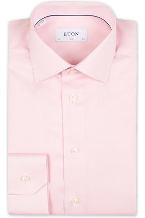 Eton Slim Fit Signature Twill Shirt Pink