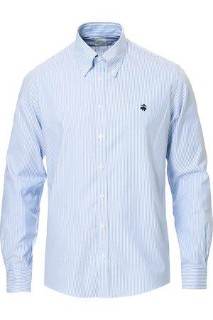 Brooks Brothers Milano Fit Non Iron Striped Shirt Light Blue