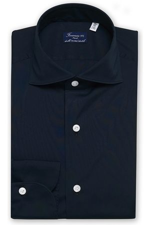 Finamore Napoli Milano Slim Fit Stretch Shirt Navy