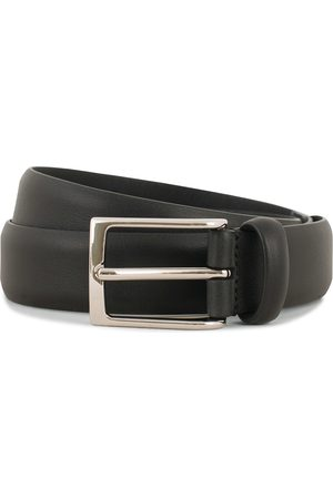 Anderson's Double Nappa Calf 3 cm Belt Black
