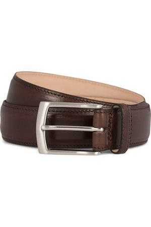 Loake Henry Leather Belt 3,3 cm Dark Brown