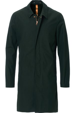 PRIVATE WHITE V.C. Unlined Cotton Ventile Mac Coat 3.0 Racing Green