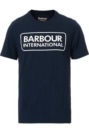 Barbour Large Logo Crew Neck Tee Navy