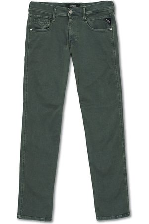 Replay Anbass Hyperflex 5-Pocket Trousers Green