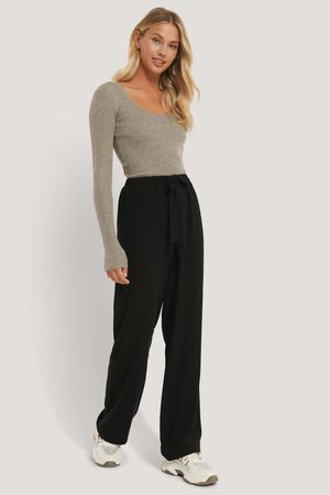 NA-KD Tie Belt Wide Leg Pants