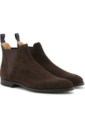 Crockett & Jones Chelsea 8 Boot Dark Brown Suede