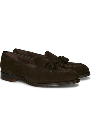 Loake Russell Tassel Loafer Chocolate Brown Suede