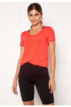 Only Play Sue V-Neck Training Tee Fiery Coral L