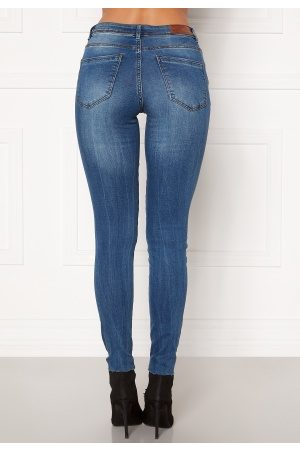 Vero Moda Tanya Piping Raw Jeans Medium Blue Denim XL/30
