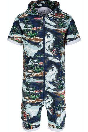 Onepiece Onesies - The Vintage Hawaii Short Jumpsuit Blue Mix