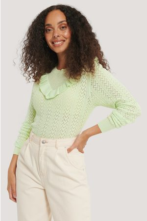 NA-KD Frill Detail Light Knitted Sweater