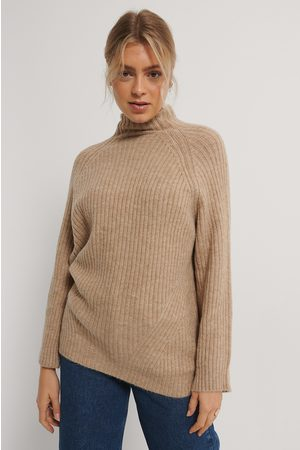 NA-KD Dame Pologensere - Long Knitted Sweater