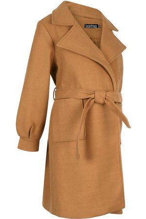 Boohoo Maternity Wrap Pocket Front Coat