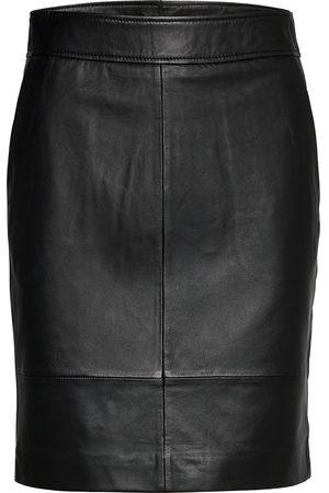 Second Female Francie Mini Leather Skirt Kort Skjørt