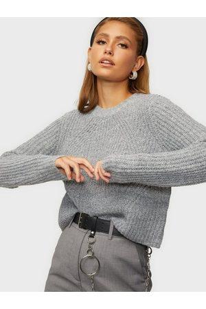 Only Onlfiona L/S Pullover Knt Noos Medium Grey Melange