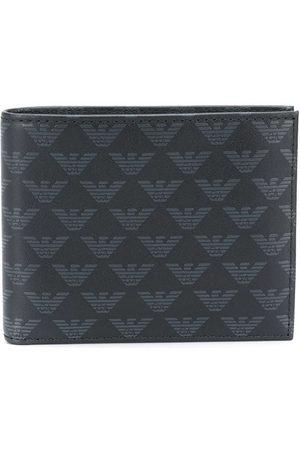 Emporio Armani Monogram print leather wallet