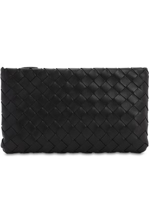 Bottega Veneta Intrecciato Small Shiny Leather Pouch