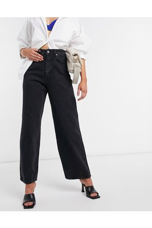 ASOS High rise 'relaxed' dad jeans in washed black