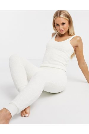 ASOS Mix & match lounge fluffy legging in cream