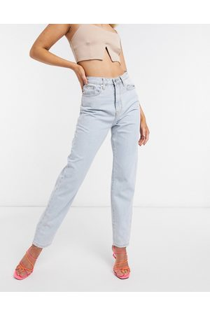 Missguided Riot high waisted recycled denim mom jean in blue