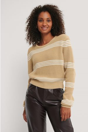 NA-KD Striped Cropped Knitted Sweater