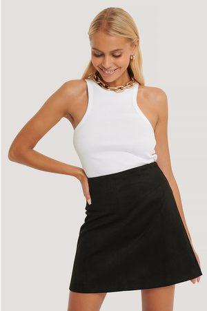 NA-KD Mini Suede Skirt
