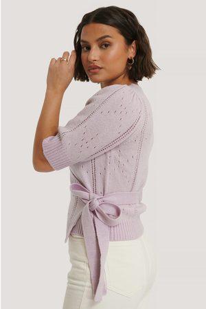 NA-KD Dame Strikkegensere - Overlap Pattern Knitted Sweater