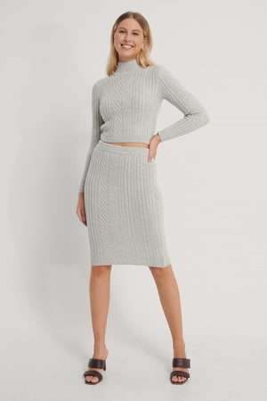 Trendyol Dame Midiskjørt - Top Skirt Knit Set