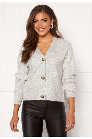 Only Carol L/S Cardigan Knit Light Grey Melange XS