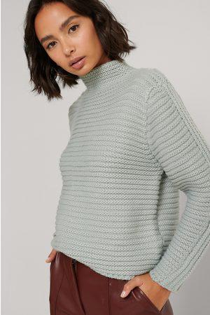 NA-KD Dame Gensere - Rib Panel Sleeve Sweater