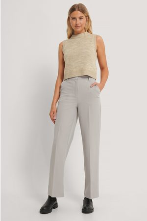 Emilie Malou x NA-KD Straight Leg Suit Trousers