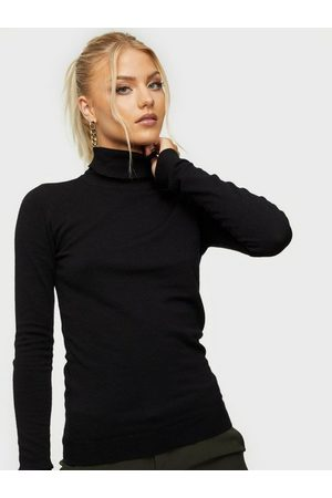 Object Collectors Item Objthess L/S Rollneck Knit Pullover Black