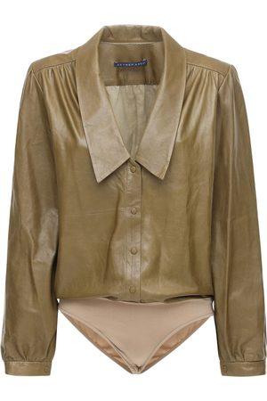 Zeynep Arcay Dame Body - Leather Bodysuit W/ Collar