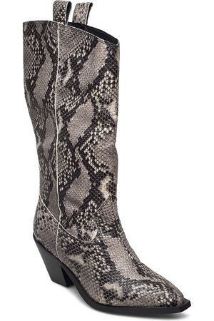YAS Sorina Tall Western Boots Shoes Boots Ankle Boots Ankle Boot - Heel