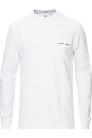 Samsøe Samsøe Norsbro Long Sleeve Organic Cotton Tee White