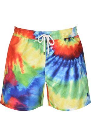 Ralph Lauren Herre Badebukser - Traveller Tie Dye Swim Shorts Red