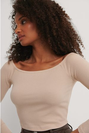 NA-KD Dame Off shoulder - Rib Off Shoulder Top