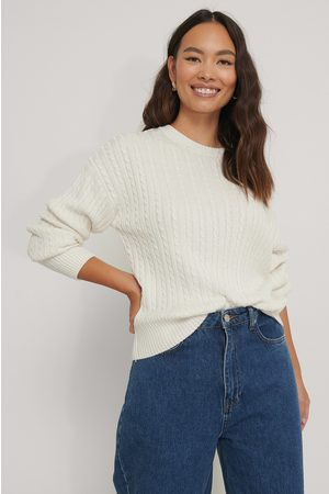 NA-KD Small Cable Knit Sweater