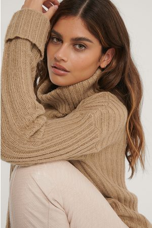 NA-KD Turtleneck Ribbed Knitted Sweater