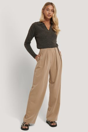 NA-KD Dame Chinos - Deep Pleat Suit Pants