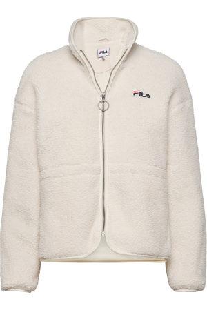 Fila Dame Fleecejakker - Women Sari Sherpa Fleece Jacket Sommerjakke Tynn Jakke Creme