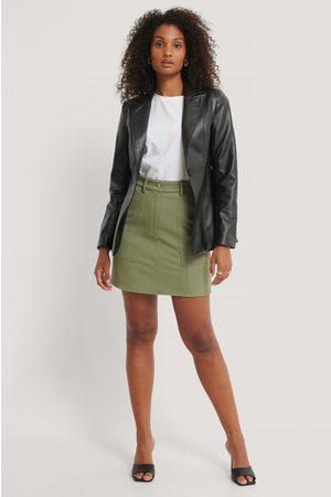 NA-KD Dame Miniskjørt - Mini A-line Twill Skirt