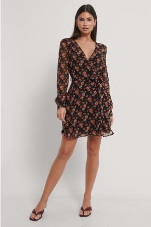 NA-KD Front Wrap Chiffon Dress