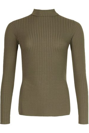 Boohoo Side Split Turtle Neck Knitted Ribbed Top