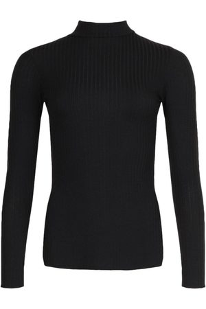 Boohoo Dame Pologensere - Side Split Turtle Neck Knitted Ribbed Top