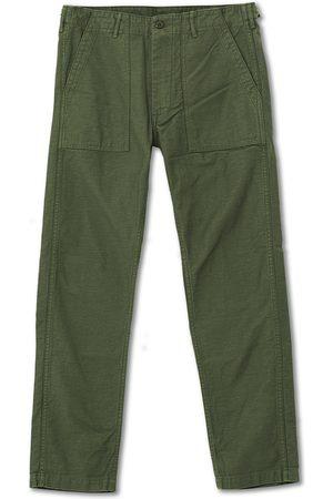 orSlow Herre Chinos - Slim Fit Original Sateen Fatigue Pants Army Green